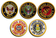 Ensignias of the 5 branches of the military
