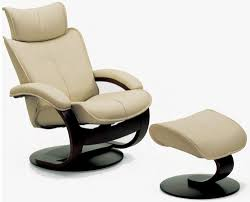 room ergonomic furniture chairs: fjords ona ergonomic leather recliner chair and ottoman scandinavian lounger