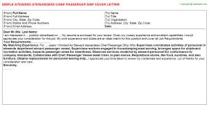 ship security officer cover letters   steward stewardess chief passenger ship