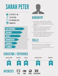 infographic resume template venngage simple infographic resume template