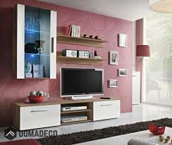 Carlisle 2 - white and walnut modern <b>tv wall unit</b> | Мебель ...