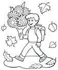 Картинка раскраска школьника