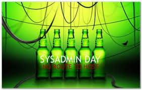 Happy SysAdmin Day to all! -