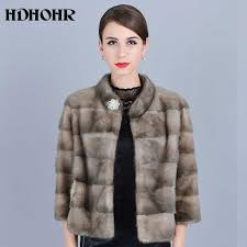 HDHOHR <b>2019 New Natural</b> Mink Fur Coats Of Women Good ...
