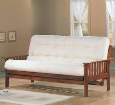 living room mattress: vintage living room ideas with white mattress futon beds walmart and wooden natural oak frame