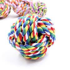 2018 Small <b>Pet</b> Bite <b>Molars</b> Cotton Rope Ball Bite Ball <b>Dog</b> Toy ...