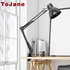 tojane tg801 long swing arm desk lamp led table lamp office led reading light home lampe cheap office lighting
