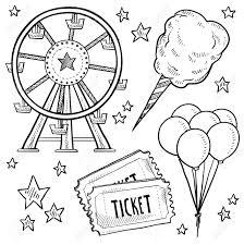 doodle style amusement park or carnival equipment sketch in vector doodle style amusement park or carnival equipment sketch in vector format includes cotton candy ferris