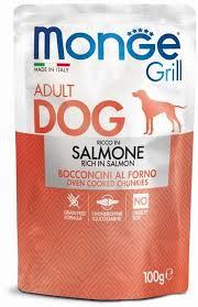 <b>Monge Dog Grill</b> Pouch <b>паучи</b> для собак лосось 100г