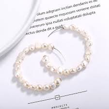 2019 <b>Leouerry 925 Sterling Silver</b> Baroque Pearl Earrings 54MM ...