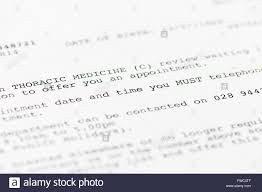 patient appointment letter advising of an appointment the patient appointment letter advising of an appointment the thoracic medicine clinic