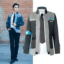 Detroit Become Human <b>Connor RK800</b> Cosplay Costume Men Coat ...