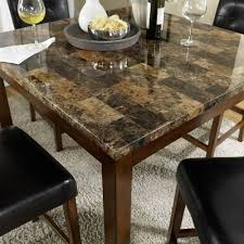cherry counter height piece: dorel living andover  piece faux marble counter height dining set multiple colors walmartcom
