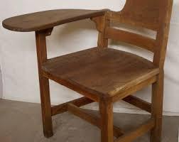 antique vintage solid oak wood wooden right hand handed child student desk chair antique wooden desk chair