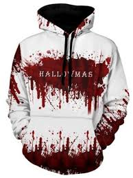 <b>Halloween</b> Bleeding <b>Pattern</b> Ink Painting Hoodie in 2020 | Hoodies ...