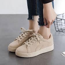 2019 Solid Beige Black Canvas Shoes <b>Women Spring Summer</b> ...