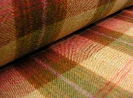 wool fabric natural fabric wexford berry plaid tinsmiths linen and brown fabric lighting