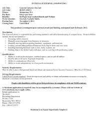 laborer resumes template examples for construction general labour resume sample