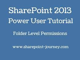 SharePoint 2013: Folder Level Permissions | SharePoint-Journey ...