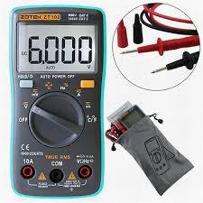 <b>ZT102</b> Auto Rang Digital Multimeter 6000 Counts AC/DC Ammeter ...