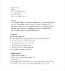 tutor resume template –    free samples  examples  format    professional tutor resume format