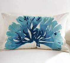 view in gallery blue coral pillow cover blue furniture