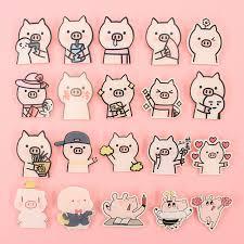 <b>free shipping 1 PCS</b> lovely pink pig cartoon mix for Clothing Acrylic ...