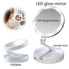 Portable LED Lighted Makeup Mirror Vanity Compact Women ... - Vova