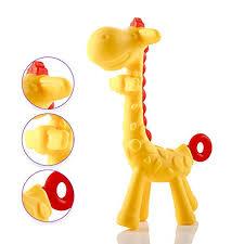 Buy <b>Baby</b> Giraffe <b>Teether Non-Toxic</b> BPA-Free <b>Silicone</b> Safe and ...
