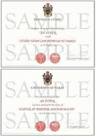 Display Certificates University Of Wales Shop