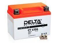 Свинцово-кислотный мото аккумулятор <b>Delta</b> CT 1204