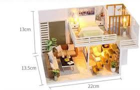 <b>DIY Wooden Miniature</b> Doll House Furniture Kit <b>DIY</b> Project ...