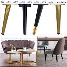 <b>4pcs</b> furniture <b>straight</b> cone table leg, <b>chair</b> supporting feet, gold ...