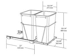 pull kitchen waste trash  double pull out waste container specs
