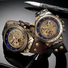 <b>Automatic Watches Men Mechanical Watch</b> Skeleton Bronze ...