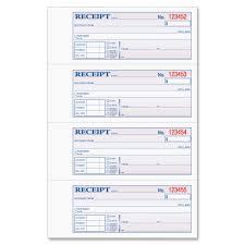tops 46808 money rent receipt book 3 part carbonless copy 7 25 view large image view huge image frontmaximum front original