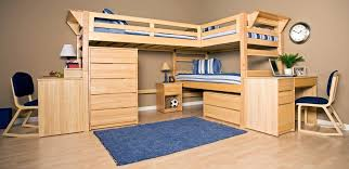 image of traditional bunk beds with desk underneath bunk bed desk