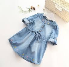 Buy Online <b>Hot Sale</b> Fashion Girls Denim Dress Baby Soft <b>Cotton</b> ...
