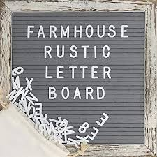 Felt Letter Board with 10x10 Inch Rustic Wood Frame ... - Amazon.com