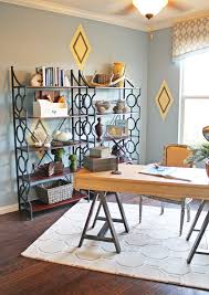 image credit cristi holcombe interiors llc blue brown home office