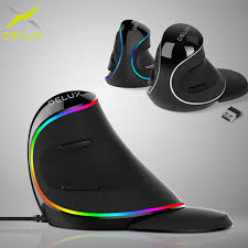 <b>Delux M618 PLUS</b> Ergonomics <b>Vertical</b> Gaming Wired Mouse 6 ...