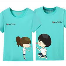 Plus Size S 4XL <b>Cute Cartoon</b> Couple T Shirt <b>Women</b> And Men ...