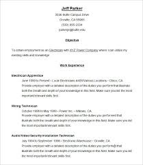 chronological resume template –    free samples  examples  format    chronological resume sample template