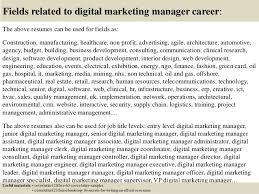 16 fields related to digital marketing manager marketing manager cover letters