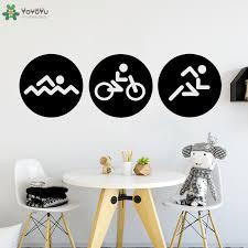 <b>YOYOYU</b> Wall Decal Creative Sport Biking Swim Triathlon <b>Vinyl</b> ...