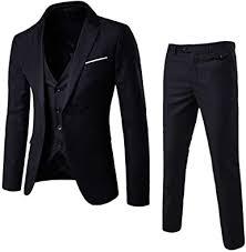 Men's Slim Fit <b>Blazer Vest Pants</b> Suit at Amazon Men's Clothing store