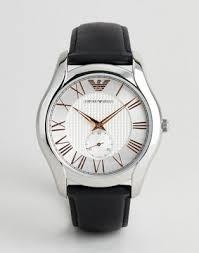 Классические <b>часы</b> с кожаным ремешком <b>Emporio Armani AR1984</b>