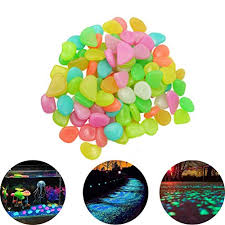 Luntus <b>500Pcs</b> in Dark <b>Garden Glowing</b> Pebbles for Walkway ...