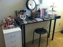 furniture black ikea glass top desk