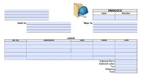 tax invoice template excel southafrica s vat pr general labor invoice template